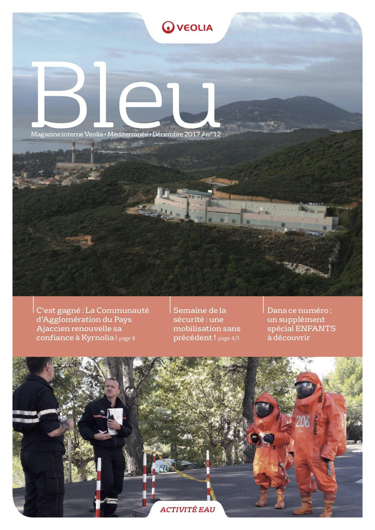 De 2015 à 2018, Veolia Eau (région Sud) me confie la rédaction complète de l'ensemble de ses magazines interne (Bleu) et externe (Réseaux). Ces éditions se sont arrêtées suite à une réorganisation interne des régions.