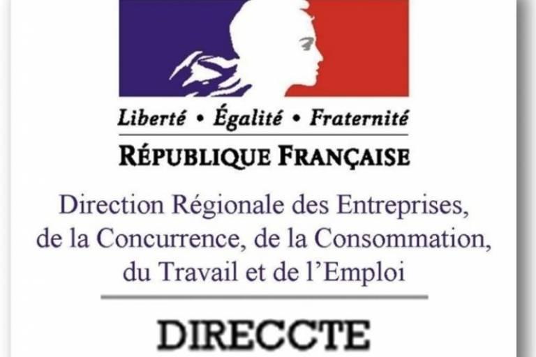 La DIRECCTE est la Direction régionale des entreprises, de la concurrence, de la consommation, du travail et de l'emploi. Son rôle est de veiller au respect du droit du travail, renforcer la santé et la sécurité au travail et d'assurer une veille économique.